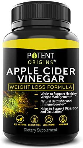 100% Natural Apple Cider Vinegar - 90 Capsules for Healthy Diet & Weight Loss- Pure, Raw, Vegan and Non-GMO - Helps Digestion - Made in USA - Add to Garcinia Cambogia and Your Diet Kits & Systems 1
