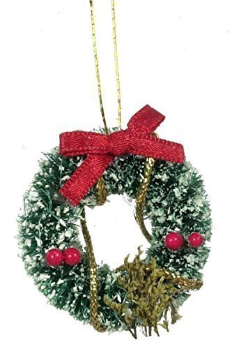 Dollhouse Miniature Holiday Wreath