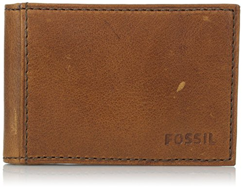 Fossil Clip Money Clip (Fossil Conner Money Clip Bifold, Cognac, One Size)