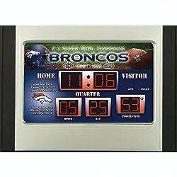 Denver Broncos Scoreboard Desk Clock