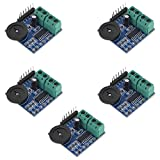 5pcs Audio Amplifier PAM8403 Chip Module 3W with Potentiometer for Volume Adjustment and 2P Terminal for Left and Right Channels from Optimus Electric