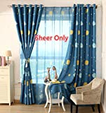 WPKIRA Window Treatments Home Decor Blue Planet Pattern Printed Perspective Sheer Window Elegance Curtains/drape/panels/treatment Rod Pocket Top for Kids Bedroom,1 Panel W75 x L84 inch