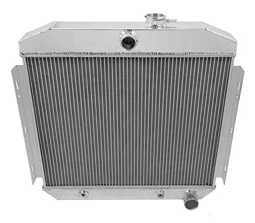 Blitech 3 ROWS ALUMINUM RADIATOR Fits 1955 1956 CHEVY BELAIR BEL AIR 6CYL CORE SUPPORT