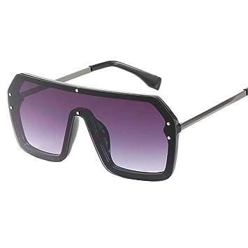 PFMY.DG Gafas de Sol elípticas Gran Moda Retro Sol Moda ...