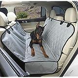 4Knines Luxury Dog Seat Cover with Hammock - Grey Extra Large - USA Based Company