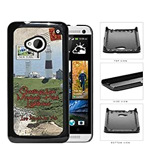 Montauk Point Postcard Long Island NY Hard Plastic Snap On Cell Phone Case HTC One M7