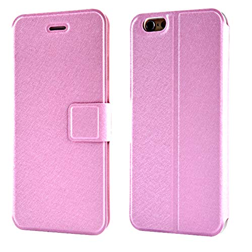 CaseHQ Case for iPhone 8/7, Wallet Flip Fold PU Leather Card Case Stylish Slim Stand Magnetic Closure Holders Pockets Folio Drop Protection Cover for Apple iPhone 8 /iPhone 7 -Pink -