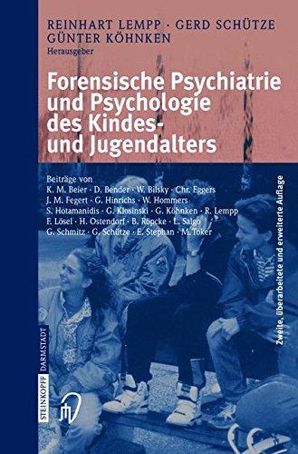 Forensische Psychiatrie Und Psychologie Des Kindes - Und Jugendalters