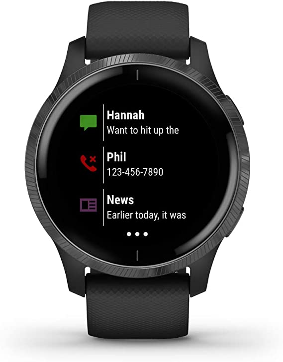 Garmin Venu, GPS Smartwatch with Bright Touchscreen Display, Features Music, Body Energy Monitoring, Animated Workouts, Pulse Ox Sensor and More, ...