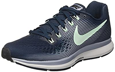 Nike Women's Air Zoom Pegasus 34 Running Shoe Armory Navy/Mint Foam/Glacier Grey/Black Size 6.5 M US