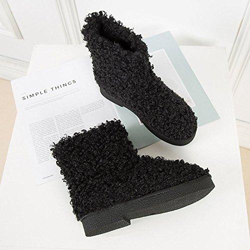 Boots tacco stivali Casual HSXZ Calf piatto EU39 rotondo Scarpe Snow stivali Toe Autunno Mid donna verde grigio US8 floccaggio verde CN39 Inverno ZHZNVX Comfort pu per nero UK6 zvwPHPxdq