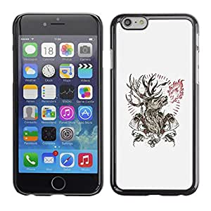 All Phone Most Case / Hard PC Metal piece Shell Slim Cover Protective Case Carcasa Funda Caso de protección para Apple Iphone 6 Deer Antlers Axe Manly Fire Forest