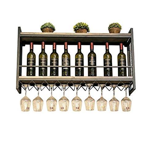 Yxsd Estante Creativo Industrial del Vino, Estante del Vino del Estante de la Barra del Ocio de la exhibición de...