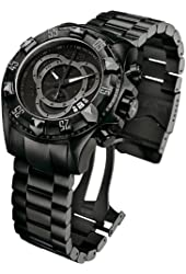 Invicta Men's 6474 Reserve Collection Excursion Chronograph Black Ion-Plated Watch