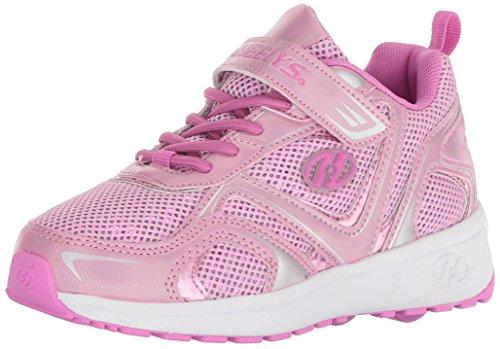 Heelys Girls' Rise X2 Tennis Shoe, Pink Sparkle, 12c Medium US Little Kid