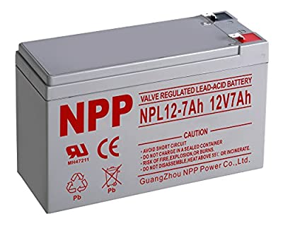 NPP 12V 7 Amp NPL12 7Ah Deep Cycle UPS Rechargeable Sealed Lead Acid Battery F2 Terminals