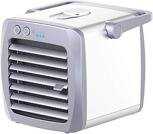 Mini ventilador de escritorio portátil, purificador de aire silencioso Humidificador de ciclón Enfriador de aire por remolque Escritorio personal pequeño Ventilador ...