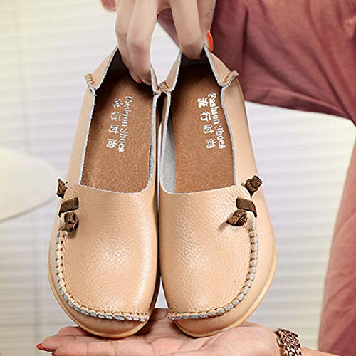 Lace Loafer Pelle Signore Beige Lavoro Confortevole Autista Ragazze Caviglia Pompe Incinta In Appartamenti Multicolore up Donne Yudesun Mocassini Scarpe 0HwxqnpH1