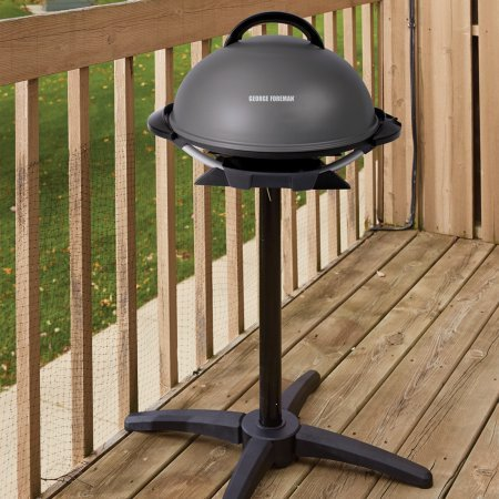 George Foreman 240 Indoor/Outdoor Grill, 15-Servings, Removable
