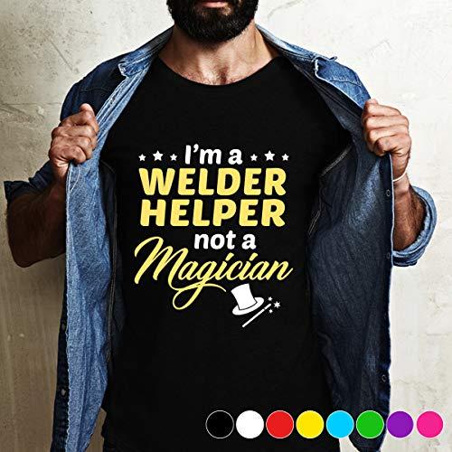 - tenis i am a Welder Helper not a magician Tee shirt T Shirt Long Sleeve Sweatshirt Hoodie For Best Time