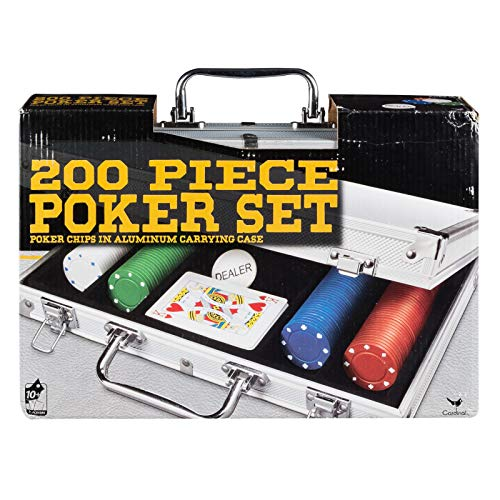 - Cardinal Industries 200 pc Poker Set in Aluminum Case (Styles Will Vary)