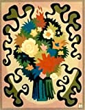 """""""BOUQUET,""""Spanish""""Encanto""""Tapestry PUZZLE,15.5'' X 20.5""""Original Mid-Century Modern, c.1965,100% Virgin Wool Felt,Mint Condition.Do-It-Yourself complete Puzzle kit:more fun, save money too!"""