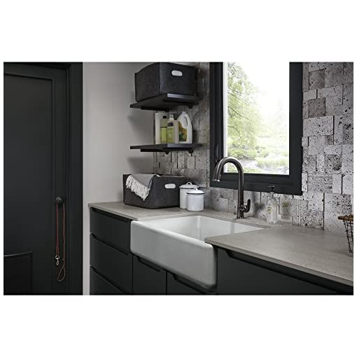 Farmhouse Kitchen KOHLER K-5827-0 Whitehaven Kitchen Sink, 9.63 x 21.56 x 32.69 inches, White farmhouse kitchen sinks