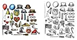 Sizzix Tim Holtz Crazy Things Cling Rubber Stamp CMS237 and Framelits Die Set 660953 - Bundle of 2