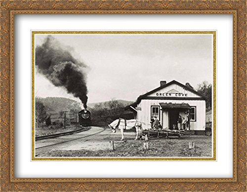 Maud Bows to The Virginia Creeper 2X Matted 36x28 Large Gold Ornate Framed Art Print by O. Winston ()