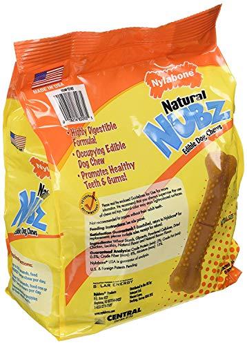 pack of 2 Nylabone Natural Nubz Edible Dog Chews 22ct. 2.6lb bag -Total 5.2lb Limited Edition