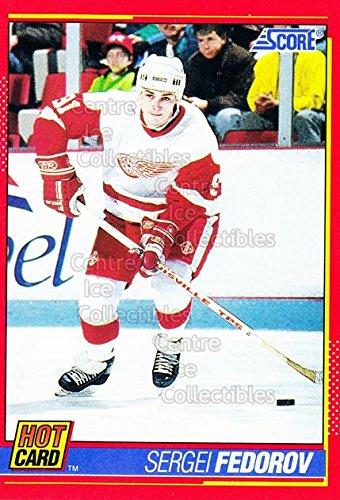 ((CI) Sergei Fedorov Hockey Card 1991-92 Score Hot Cards 4 Sergei Fedorov)