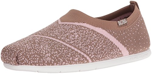 Skechers Bobs From Womens Plush Lite Sox Hop Flat Taupe/Pink