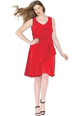 Bargain Catalog Outlet Roamans Plus Size Asymmetrical Dress At