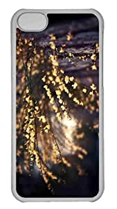 Customized iphone 5C PC Transparent Case - Yellow Tree Blossom Personalized Cover by Maris's Diary