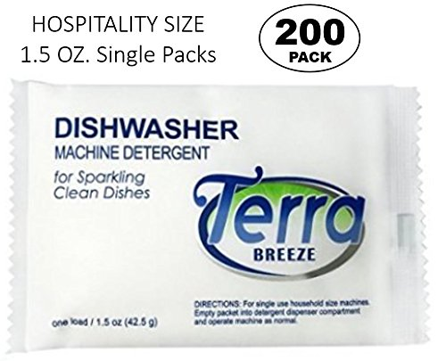 (Terra Breeze Automatic Dishwasher Detergent Powder - 1.5 oz Packets (200 packs))