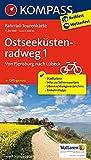 Ostseeküstenradweg 1, Von Flensburg nach Lübeck: Fahrrad-Tourenkarte. GPS-genau. 1:50000. (KOMPASS-Fahrrad-Tourenkarten, Band 7052)