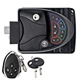 RV keyless Entry Door Lock Handle Latch with Remote Controller and keypad for Trailer Caravan Camper
