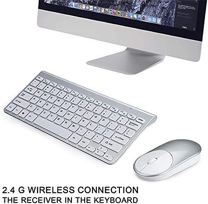 Ultra-Thin Silent 2.4g Wireless Keyboard and Mouse Set Ultra-Thin Design Desktop Computer Notebook Business Office Keyboard and Mouse Set Business Office Keyboard