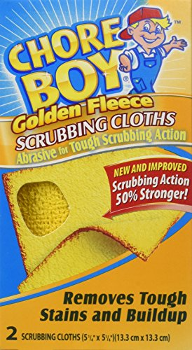 Chore Boy Golden Fleece Scrubbing Cloth, 2 Cloths per box