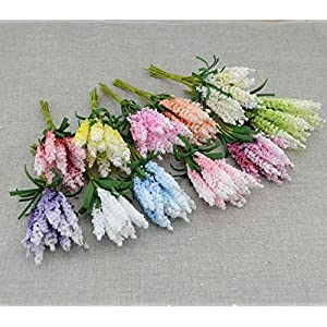 10 Pieces New Mini DIY Wreath Material Artificial Flowers PE Lavender Wedding Flower Decoration Bride Wrist Flower 92