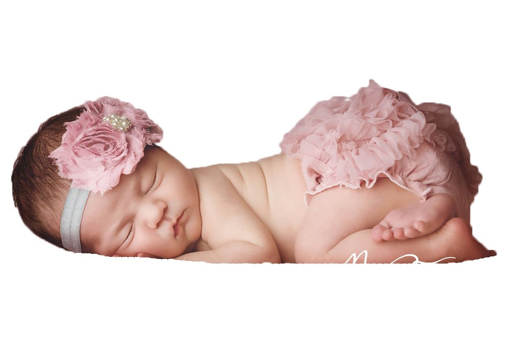 OoSweetCharlotteoO Baby Girl Chiffon Bloomer & Headband Set Newborn Photo Prop