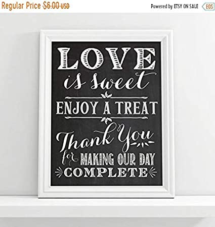 Chalkboard Wedding Signs.Amazon Com Timprint Love Is Sweet Please Take A Treat Sign