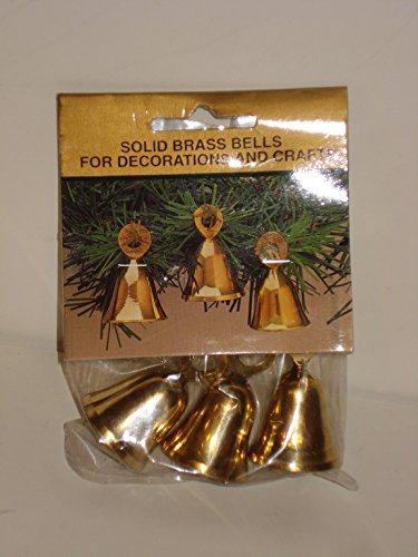 PACK OF 3 BRASS BELLS Hosley Home Decor Craft or Holiday