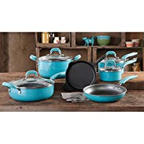 Cookware Sets Vintage Speckle 10-Piece Food Cooking Copper Charm Set Stock Boil Kitchen Pots and Pans