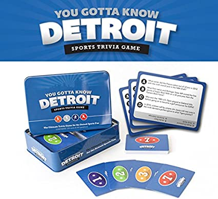 You Gotta Know Detroit Sports Trivia Game 125 Trivia Cards w// 500 Questions