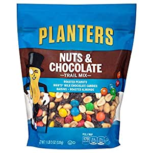 Planters Trail Mix, Nuts & Chocolate, 3 Count, 3.56 Pound