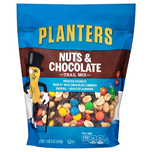 Planters Trail Mix, Nuts & Chocolate, 3 Count, 3.56 Pound -