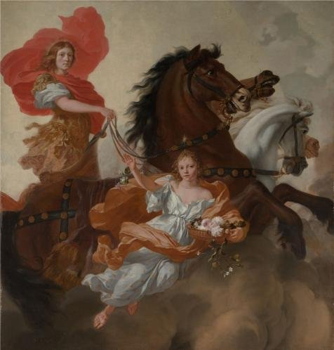 High Quality Polyster Canvas ,the High Definition Art Decorative Prints On Canvas Of Oil Painting 'Gerard De Lairesse-Apollo And Aurora,1671', 30x31 Inch / 76x80 Cm Is Best For Wall Art Gallery Art And Home Decoration And Gifts (Wicker Furniture Repair Miami)