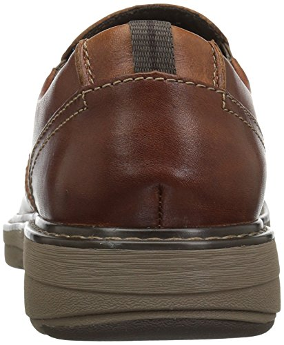 Clarks Mens Cushox Slip-on Mocassino In Pelle Color Cuoio Scuro