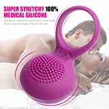 Powerful Vibrating Cock Ring Vibrant Penis Ring Vibrator for Couples for Lovers - Full Silicone Waterproof Rechargeable Adult Sex Toys for Male Clitorial Stimulator for Female